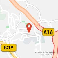 Mapa com localização da Loja CTTAgente Payshop - Pérola do Tojal