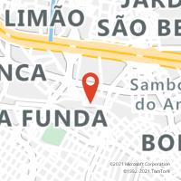 Mapa com localização da Agência AGF ALTO DE SANTANA