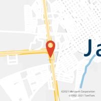 Mapa com localização da Agência AGF JARDIM ESTADIO