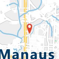 Mapa com localização da Agência AGF MANAUS PLAZA