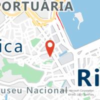 Mapa com localização da Agência AGF PEDRO II