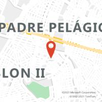 Mapa com localização da Agência AGF PIO XII