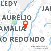 Mapa com localização da Agência AGF SHOPPING CAMPO LIMPO