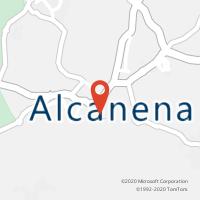 Mapa com localização da Loja CTTALCANENA