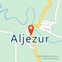 Mapa com localização da Loja CTTALJEZUR