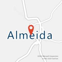 Mapa com localização da Loja CTTALMEIDA
