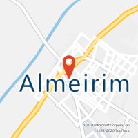 Mapa com localização da Loja CTTALMEIRIM
