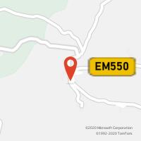 Mapa com localização da Loja CTTAMENDOA
