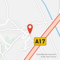 Mapa com localização da Loja CTTAMOR