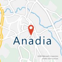 Mapa com localização da Loja CTTANADIA