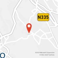 Mapa com localização da Loja CTTARADAS