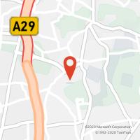 Mapa com localização da Loja CTTARCOZELO (VILA NOVA DE GAIA)