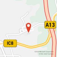 Mapa com localização da Loja CTTAVELAR