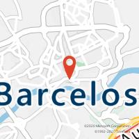 Mapa com localização da Loja CTTBARCELOS