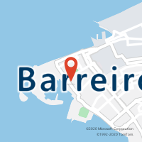 Mapa com localização da Loja CTTBARREIRO
