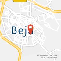 Mapa com localização da Loja CTTBEJA