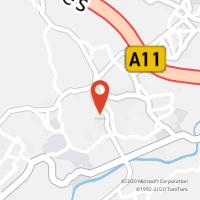 Mapa com localização da Loja CTTBRITO (GUIMARÃES)