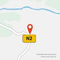 Mapa com localização da Loja CTTBROTAS