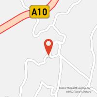 Mapa com localização da Loja CTTCACHOEIRAS (V.F.XIRA)
