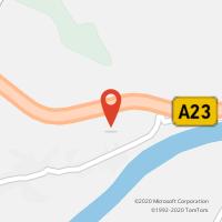 Mapa com localização da Loja CTTCEPSA - A.S. ABRANTES S/N (A23)