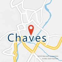 Mapa com localização da Loja CTTCHAVES