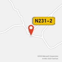 Mapa com localização da Loja CTTERVEDAL DA BEIRA