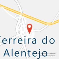 Mapa com localização da Loja CTTFERREIRA DO ALENTEJO