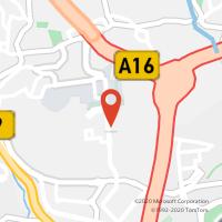 Mapa com localização da Loja CTTFILIPA DE LENCASTRE (BELAS) (Fechada)