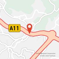 Mapa com localização da Loja CTTFORNALHA