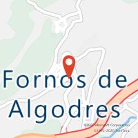 Mapa com localização da Loja CTTFORNOS DE ALGODRES (Fechada)