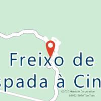 Mapa com localização da Loja CTTFREIXO ESPADA Á CINTA