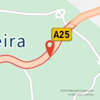 Mapa com localização da Loja CTTGALP - A.S. CELORICO DA BEIRA (A25) GUARDA / VISEU