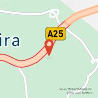 Mapa com localização da Loja CTTGALP - A.S. CELORICO DA BEIRA (A25) VISEU / GUARDA