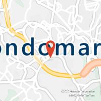 Mapa com localização da Loja CTTGONDOMAR