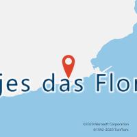 Mapa com localização da Loja CTTLAJES DAS FLORES