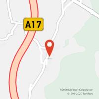 Mapa com localização da Loja CTTLENTISQUEIRA