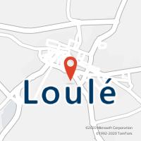 Mapa com localização da Loja CTTLOULÉ