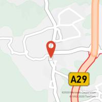 Mapa com localização da Loja CTTMACEDA