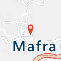 Mapa com localização da Loja CTTMAFRA