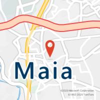 Mapa com localização da Loja CTTMAIA
