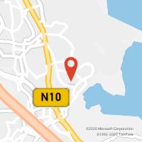 Mapa com localização da Loja CTTMIRATEJO (CORROIOS)