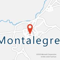 Mapa com localização da Loja CTTMONTALEGRE