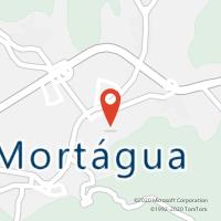Mapa com localização da Loja CTTMORTÁGUA