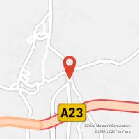 Mapa com localização da Loja CTTMOURISCAS
