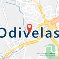 Mapa com localização da Loja CTTODIVELAS