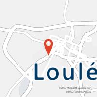 Mapa com localização da Loja CTTOLIVAIS DE SANTO ANTÓNIO ( LOULÉ )