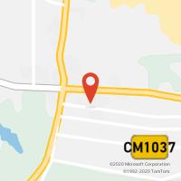 Mapa com localização da Loja CTTPEGÕES-CRUZAMENTO