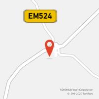 Mapa com localização da Loja CTTPEROGUARDA