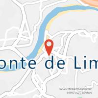 Mapa com localização da Loja CTTPONTE DE LIMA