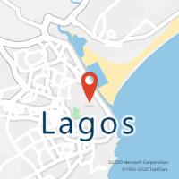 Mapa com localização da Loja CTTPORTAS DE PORTUGAL (LAGOS)